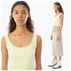 3.1 Phillip Lim Ribbed Stretch Wool Crop Tank